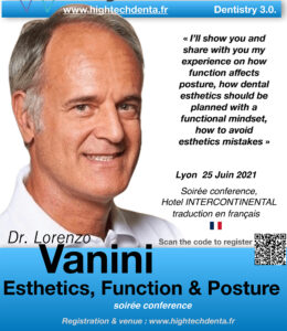 ESTHETICS, FUNCTION & POSTURE WITH LORENZO VANINI – CONFERENCE